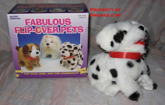 New SPOT Flip Over Dog Pet Toy Walks Barks Turns Flips