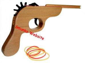 The Original Rubber Band Gun shooter wooden wood pistol