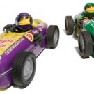 Purple #9 Motorized Hot Rod Monkey Bender Tin Race Cars