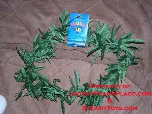 Jamaican Lei -Weed Pot marijauna necklace hawaiian Gift
