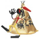 Iron Eagle Wild West Bender Toy Tin Indian Tee-Pee fun