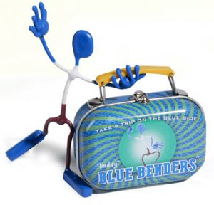 Buddy Blue Bender Action Figure Benders Magnet Toy NEW