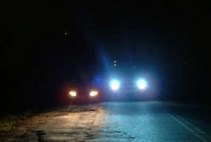 Blue H8 Xenon Krypton Gas Headlights clear white light