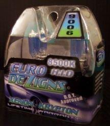 Blue 9006  Xenon Gas Headlights clear white light HB4
