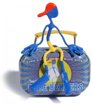 Bart Blue Bender Action Figure Benders Magnet Toy NEW