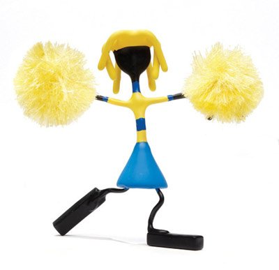 Ashley Blonde Cheerleader Bender Toy Pom Poms Tin NEW