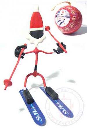 Skiing Santa Bender Ornament Christmas tree figure NEW
