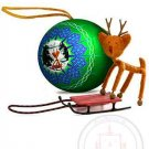 Sledding Rudolph Bender Ornament Christmas tree figure