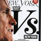 New York Magazine 12/10/07 Rudy Giuliani Ricky Gervais