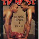 Sugar Ray Leonard-Hearns Val Kilmer Local TV Guide 6/89