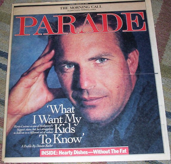 Kevin Costner Parade Magazine 1/20/91 James Whitmore
