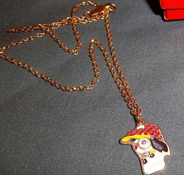 Children's Place Vintage Cute Dog Gold Tone Necklace