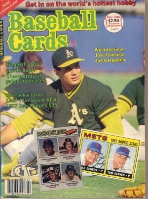 February 1987 Baseball Cards Jose Canseco Joe Garagiola