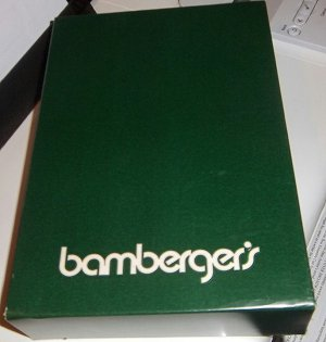 Vintage Bamberger's Department Store Gift Box 1970s-1980s
