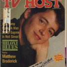Rare TV Host (Local TV Guide) April 1989 Matthew Broderick, Roy Firestone