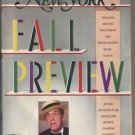 New York Mag 9/16/1985 Fall Preview, Jason Robards, Julie Wilson, Trisha Brown