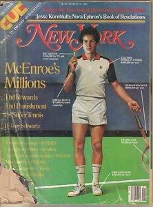 New York Magazine 3/14/1983 John McEnroe, Nora Ephron, Carl Bernstein, City Bike
