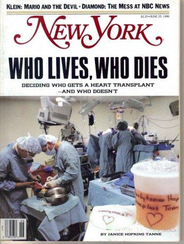 New York Magazine 6/25/1990 Heart Transplants NBC News Jay Gorney Julie Burchill
