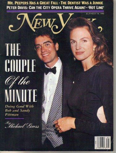 New York Mag 7/30/1990 Bob & Sandy Pittman New York City Opera Adrienne Shelly