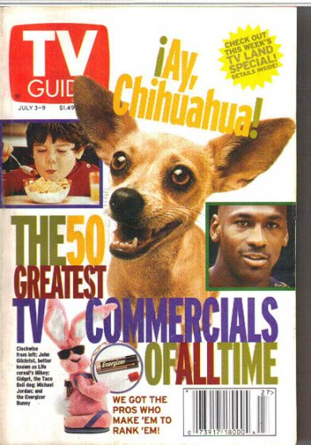 TV Guide 7/3/1999 50 Greatest TV Commercials of All Time Austin Powers Got Milk?