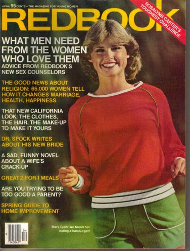 Redbook April 1977 Dr. Spock Margaret Mead Bess Myerson Rosalynn Carter