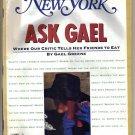 New York Mag 1/5/1987 Gael Greene Robert Hughes Tony Papp Anne Tolstoi Wallach