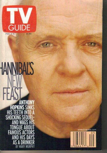 TV Guide 2/3/2001 Anthony Hopkins Hannibal XFL Garcelle Beauvais NYPD Blue