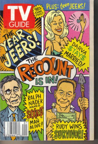TV Guide 1/6/2001 Year in Jeers Temptation Island Scott Pelley John Roberts