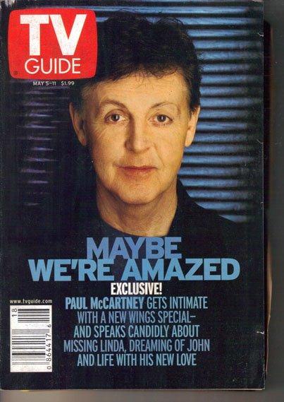 TV Guide 5/5/2001 Paul McCartney Anne Robinson Beyonce Johnny Cash