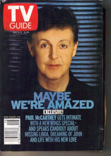 TV Guide 5 2001 Paul McCartney Anne Robinson Beyonce Johnny Cash