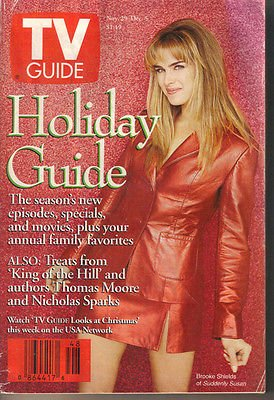 TV Guide 11/29/1997 Brooke Shields Holiday Guide King of the Hill Ray Romano