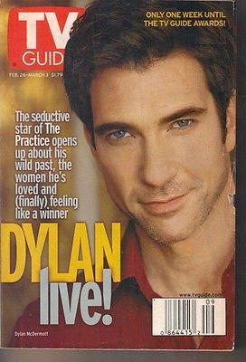 Dylan McDermott TV Guide 2/26/00 Kris Kristofferson Kimberly Williams NYPD Blue