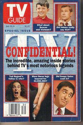 TV Guide 7/25/1998 Joey Bishop Buffy David Boreanaz James Marsters Juliet Landau