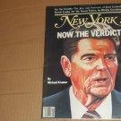 New York Magazine 11/5/1984 Ronald Reagan David Wojnarowicz Joint Custody