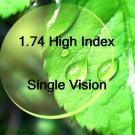 1.74 Super Hi-Index Aspheric Hard Multi Coated resin lens