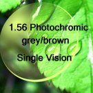 1.56 Photochromic grey/brown Single Vision resin lens