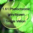1.61 High Index Single Vision Photocchromic resin lens