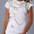 BOATNECK CHAINS TEE