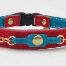 3/8 inch leather cat collar with breakaway buckle