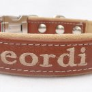 3/4 Inch Personalized leather dog collar. by Ruggit Collars (Non-Adjustable)