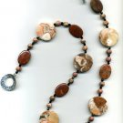 Big Jasper and Fossil Coral Necklace