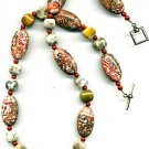 Leopardskin and Ocean Jasper  Necklace