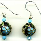 Vintage Cloisonne Earrings
