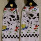 PAIR of Kitchen Hand Towels Cow FREE SHIPPING