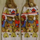 Kitchen Hand Towels Teddy Bear FREE SHIPPING
