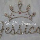 Rhinestone Transfer Iron On PERSONALIZED PRINCESS TIARA