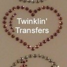 Rhinestone Transfer Iron On PEACE LOVE BASEBALL HEART