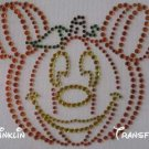 Rhinestone Iron On Transfer MICKEY PUMPKIN HALLOWEEN