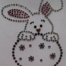 Rhinestone Iron On Transfer EASTER BUNNY EGG SPRING