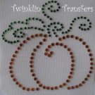 Rhinestone Iron On Transfer FALL PUMPKIN HALLOWEEN